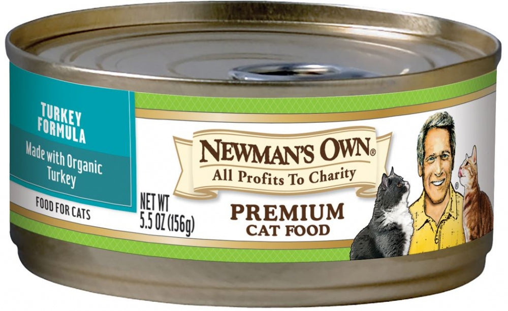 Newman's Own Organics Turkey Formula Canned Cat Food
