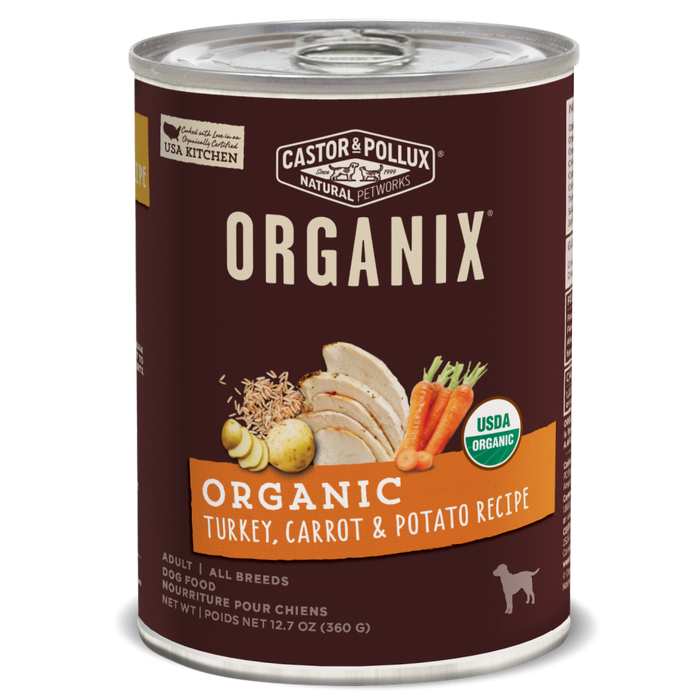 Castor and Pollux Organix Turkey Carrot and Potato Canned Dog Food