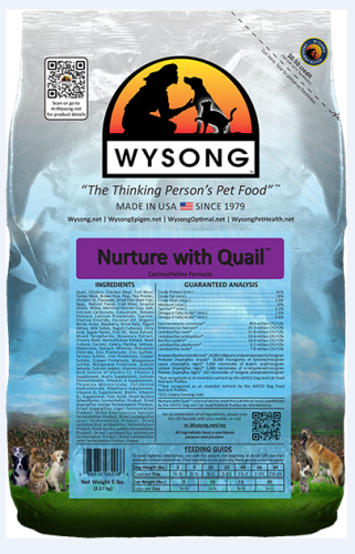 Wysong Nurture with Quail Dry Dog and Cat Food