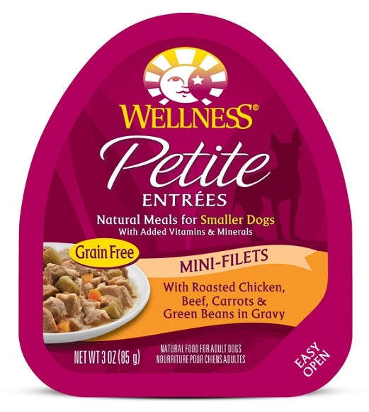 Wellness Petite Entrees Mini-Filets Grain Free Natural Roasted Chicken and Beef Recipe Wet Dog Food
