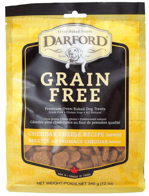 Darford Grain Free Cheddar Cheese Recipe Minis Oven Baked Dog Treats