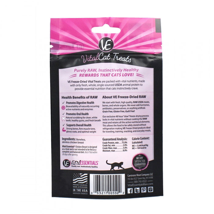 Vital Essentials Vital Cat Freeze Dried Grain Free Chicken Breast Cat Treats