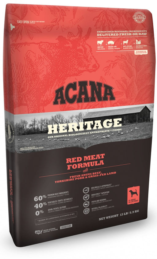 ACANA Heritage Red Meat Formula Grain Free Dry Dog Food