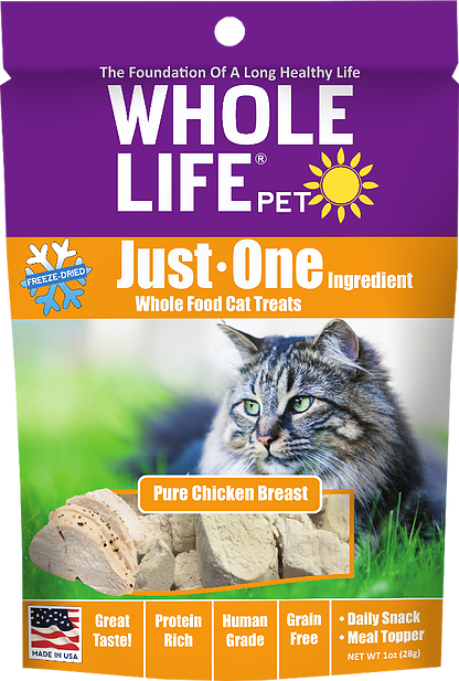 Whole Life Just One Grain Free Pure Chicken Breast Freeze Dried Cat Treats