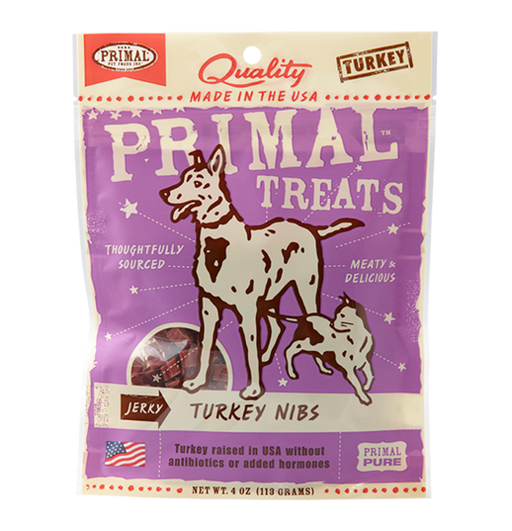 Primal Grain Free Jerky Turkey Nibs Dog and Cat Treats