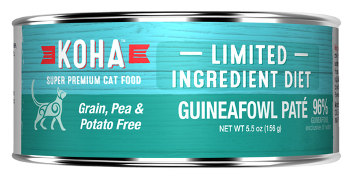 KOHA Grain & Potato Free Limited Ingredient Diet Guineafowl Pate Canned Cat Food