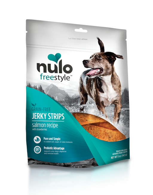 Nulo Freestyle Grain Free Salmon & Strawberries Recipe Jerky Dog Treats