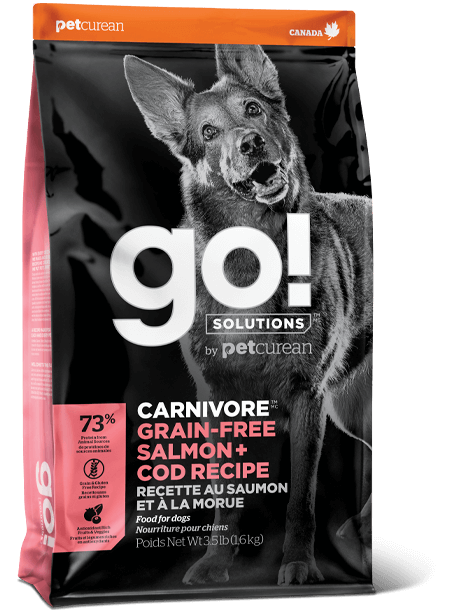 Petcurean GO! Solutions Carnivore Grain Free Salmon & Cod Recipe Dry Dog Food