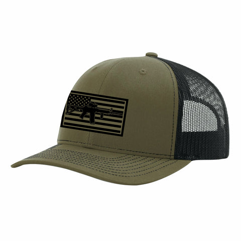 OD Green M4 Trucker Snap Back Hat