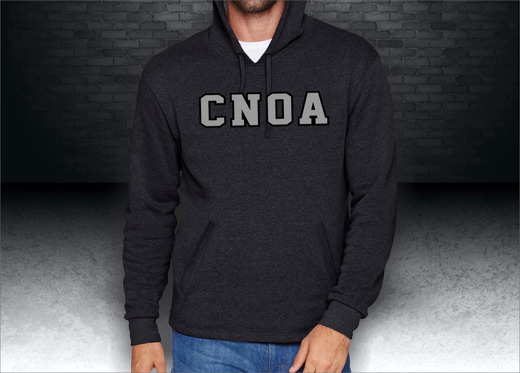 CNOA Heather Black Applique Adult PCH Pullover Hoodie