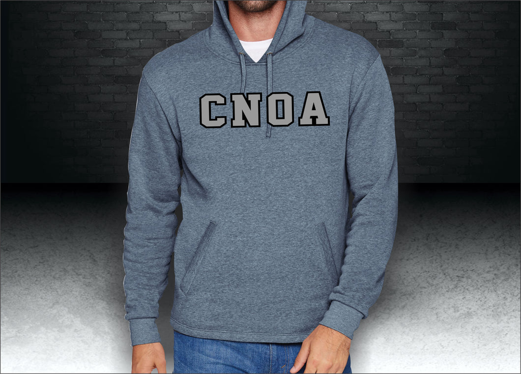 CNOA Heather Bay Blue Applique Adult PCH Pullover Hoodie