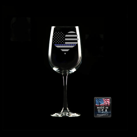 CNOA Heart Blue Line Wine Glass