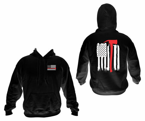 Red Line Hooded Pullover Sweatshirt