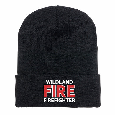 Black Wildland Fire Firefighter Knit Cap