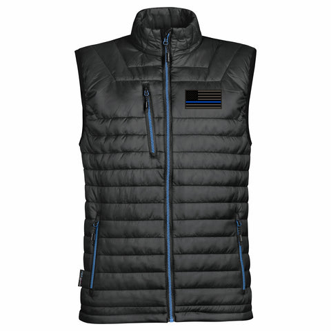 Men's Blue Line Puffy Vest