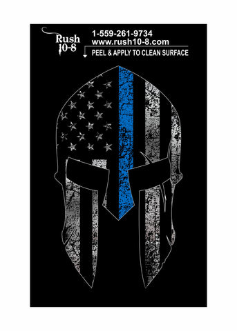 Blue Line Spartan Sticker