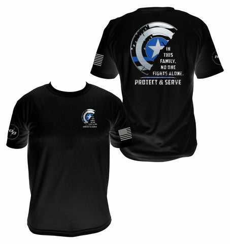 CNOA Protect and Serve Men's Next Level Premium Fitted CVC Crew Tee