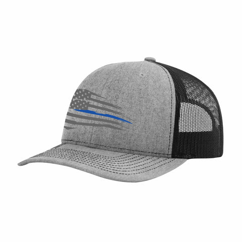 Thin Blueline Mesh Back Hat