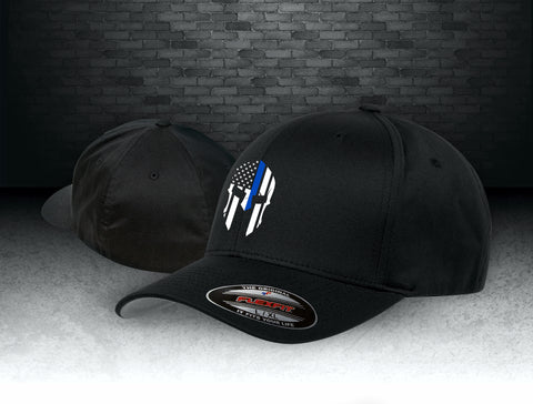 CNOA Thin Blue Line Spartan Flexfit Wooly 6-Panel Cap
