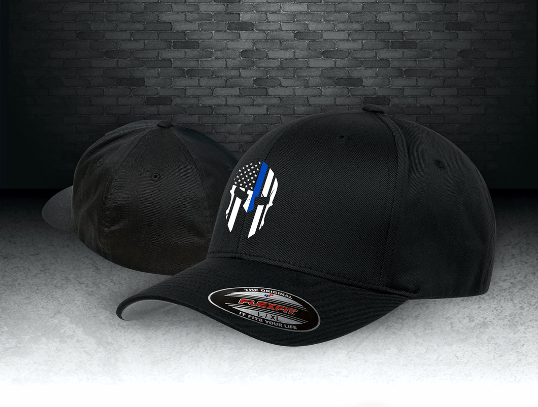 Thin Blue Line Spartan Flexfit Wooly 6-Panel Cap