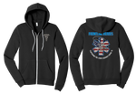 Frontline Heroes Bella Canvas Unisex Sponge Fleece Full-Zip Hoodie