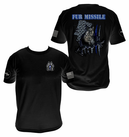 CNOA K9 Fur Missile Men's Next Level Premium Fitted CVC Crew Tee
