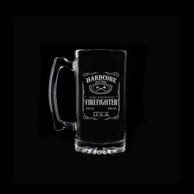 Hardcore Firefighter Beer Mug
