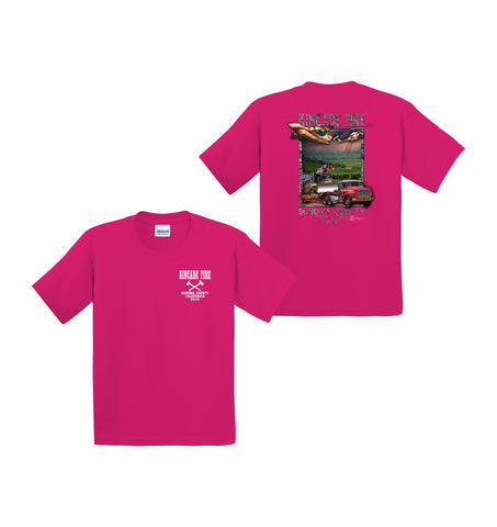 Kincade Fire Youth Pink Short Sleeve T-Shirt