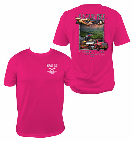 Kincade Fire Pink Short Sleeve T-Shirt
