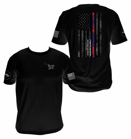 Men's Red and Blue Line I Stand With These Lines Because They Are Worth It!!  T-shirt