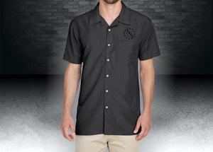 CNOA Harriton Men's Barbados Textured Camp Shirt - Black