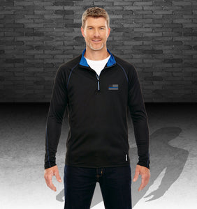 Men's Blue Line Radar Quarter-Zip Performance Long-Sleeve Top