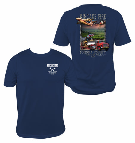 Kincade Fire Navy Short Sleeve T-Shirt