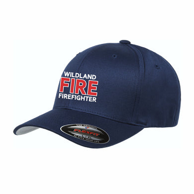 Navy Wildland Fire Firefighter Flexfit® Wooly Combed Twill Cap