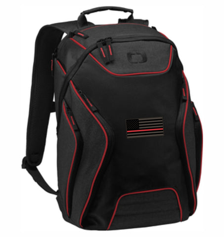 Red Line Flag Computer Back Pack