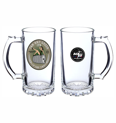 CNOA 16 oz. Beer Mug with Tan and Green IPA Logo