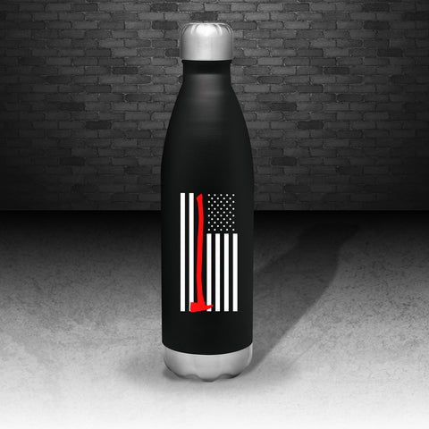 Red Line Flag Thermal Bottle for Water and Coffee