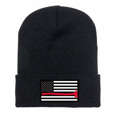Red Line Flag Knit Cap