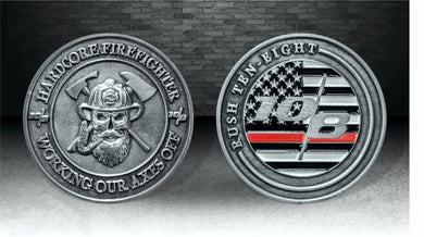 Hardcore Firefighter Challenge Coin