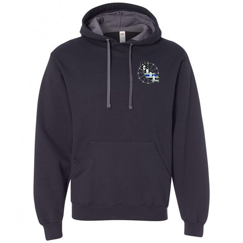 CNOA - Fruit of the Loom Adult 7.2 oz. SofSpun® Hooded Sweatshirt - Black