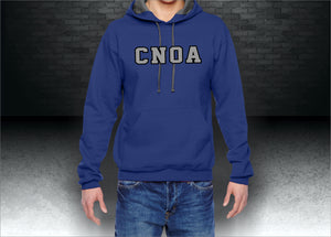CNOA Applique Fruit of the Loom Adult 7.2 oz. SofSpun® Hooded Sweatshirt - Admiral Blue