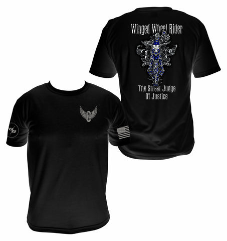 Winged Wheel Rider Men's Next Level Premium Fitted CVC Crew Tee