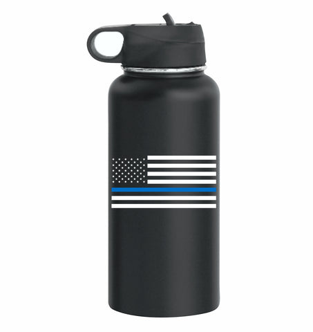 CNOA Blue Line 32oz Double Wall Vacuum Insulated 18/8 Stainless Steel Bottle