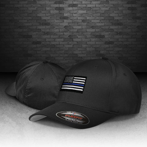 CNOA Thin Blue Line Flexfit Wooly 6-Panel Cap
