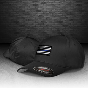 Thin Blue Line Flexfit Wooly 6-Panel Cap