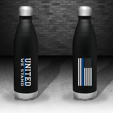 Thin Blue Line Stainless Steel Thermal Bottle