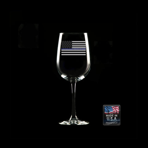 CNOA Thin Blue Line Wine Glass