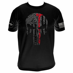 Thin Red Line Skull Axe Men's Next Level Premium Fitted CVC Crew Tee
