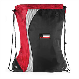 Thin Red Line Drawstring Flag Bag