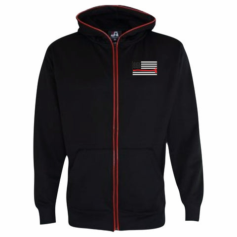 Red Line Glow in the Dark LED Full Zip Hooded Sweatshirt